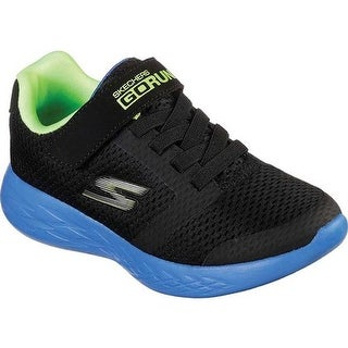Skechers Boys' GOrun 600 Roxlo Running Shoe Black/Blue/Lime