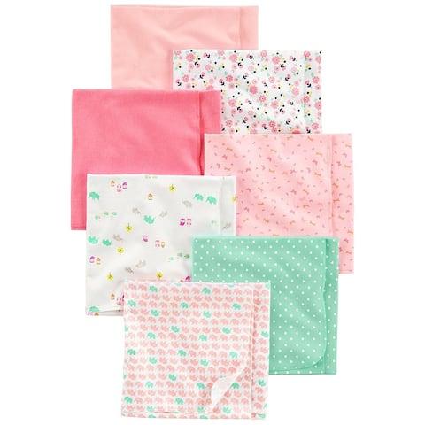 Simple Joys by Carter's Baby Girls' 7-Pack Flannel Receiving Blankets - Medium