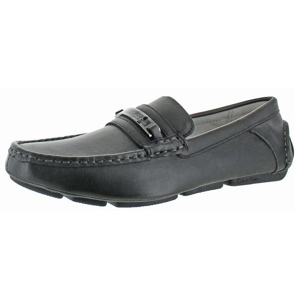 d1333e8d58edb Shop Calvin Klein Men's Merve Leather Driving Loafers Shoe - Free ...
