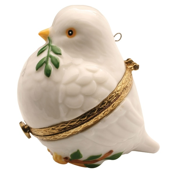 Christmas Tree Doves: Shop Porcelain Christmas Tree Hinged Ornament Box