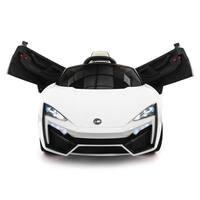Stinger Type-S Kids 12V Ride-On Car with R/C Parental Remote | White