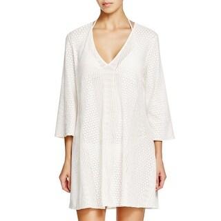 Shoshanna Womens Textured CoverUp Robe Swim Cover-Up