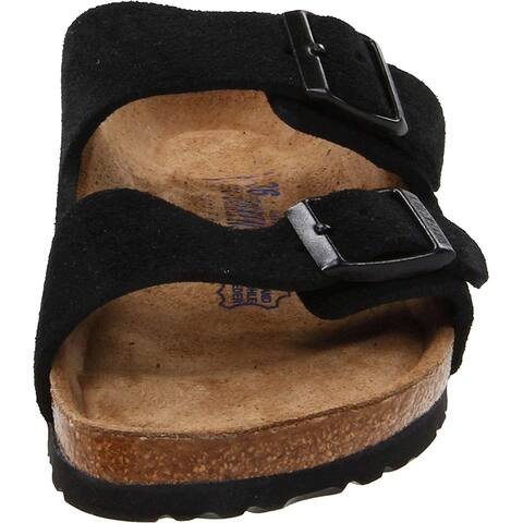 Birkenstock Mens Arizona Leather Buckle Open Toe Slides