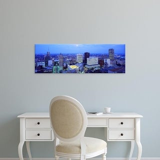 Easy Art Prints Panoramic Images's 'Evening, Buffalo, New York State, USA' Premium Canvas Art