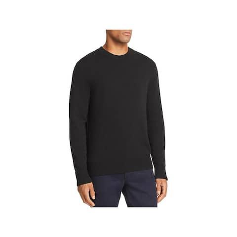 Rag & Bone Mens Pullover Sweater Cashmere Ribbed Trim - Black - M