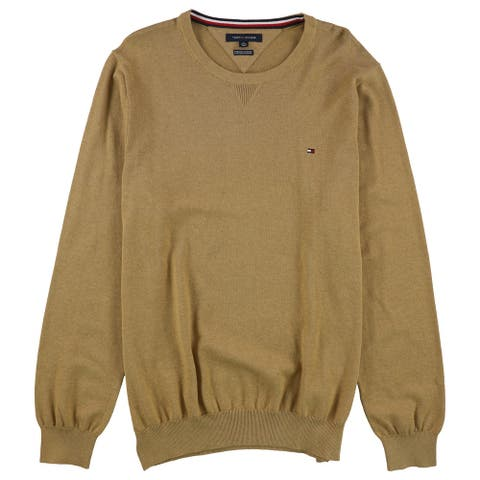 Tommy Hilfiger Mens Classic fit Sweatshirt, Brown, X-Large