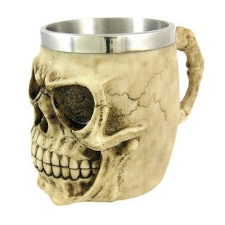 Creepy Human Skull Tankard Stein Drinking Vessel Goth