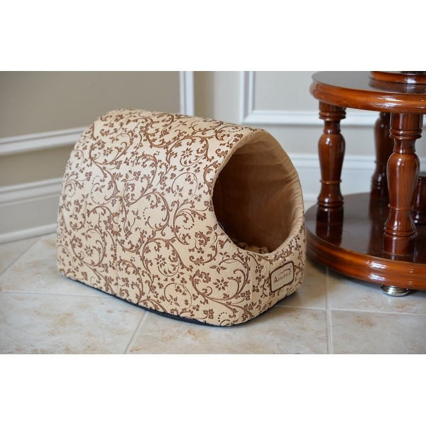 Armarkat Velvet Floral Pattern Cat Bed - Small. Opens flyout.