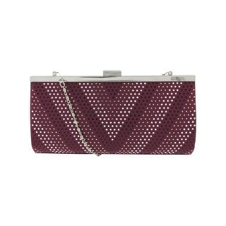 Jessica McClintock Womens Laura Clutch Handbag Embellish Retractable - Small
