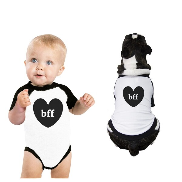 Bff Hearts Baby Pet Matching Raglan Shirts Cute Baby Shower Gifts