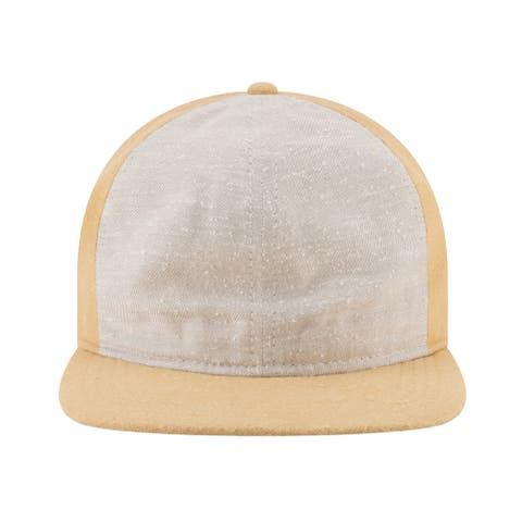 New Era Mens 9Twenty Slub Twill Flat Brim Cap Gold