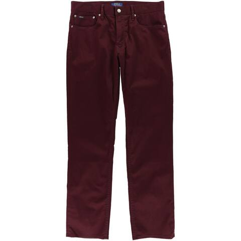 Ralph Lauren Mens Prospect Casual Chino Pants, purple, 32W x 32L