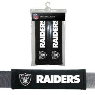 Oakland Raiders Seat Belt Pads Velour