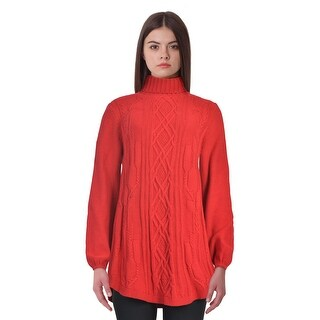 Style & Co Cable Knit Long Sleeve Turtleneck Tunic Sweater Top