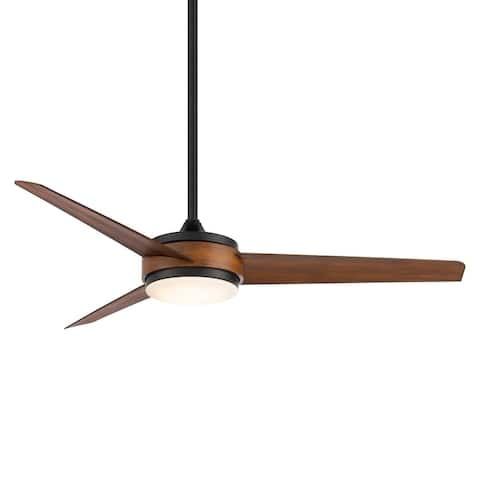 Mod Indoor and Outdoor 3-Blade Smart Compatible Ceiling Fan 54in with 3000K LED Light Kit and Remote Control