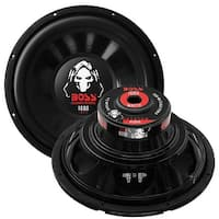 BOSS Audio P12SVC 1600 Watt, 12 Inch, Single 4 Ohm Voice Coil Car Subwoofer
