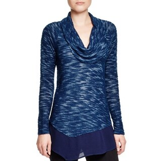 XCVI Womens Pullover Top High-Low Off The Shoulder