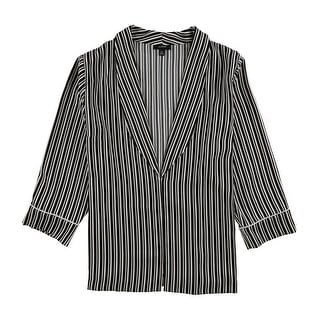 Link to Alfani Womens Striped Jacket Similar Items in Women's Outerwear