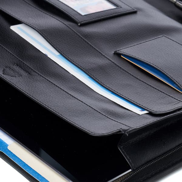 Alpine Swiss Genuine Leather Writing Pad Portfolio Business Case for Left /& Right Handed Use with Tablet Sleeve