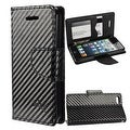 Insten Stand Folio Flip Leather Wallet Flap Pouch Case Cover for Apple iPhone 5/ 5S/ SE - Thumbnail 2