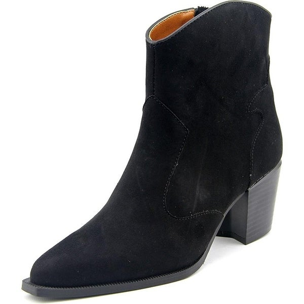 Ann Marino by Bettye Muller Finley Women Pointed Toe Synthetic Black Ankle Boot - 7.5