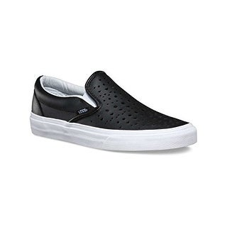 Vans Womens Classic Slip-on Cut Out Geo Black Leather Trainers 8.5 US