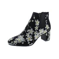 Anne Klein Womens Gorgia Booties Floral Ankle