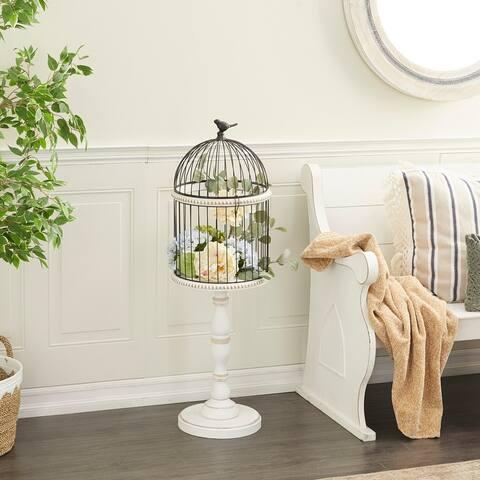 White Wood Farmhouse Birdcage 44 x 14 x 14 - 14 x 14 x 44