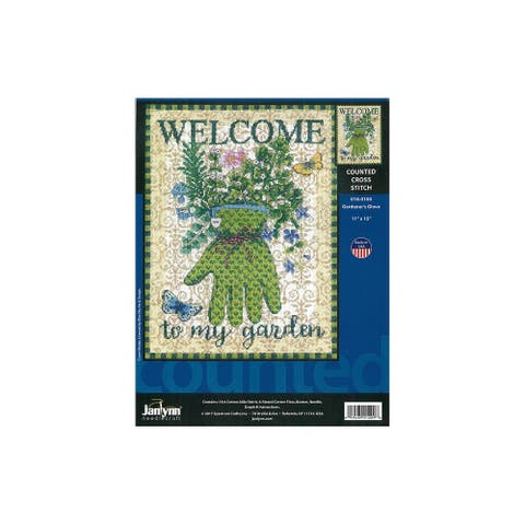 Janlynn Cross Stitch Kit 11x15 Gardener's Glove