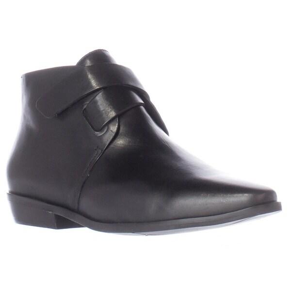 A7EIJE Soleh Pointed Toe Sleek Ankle Booties, Black - 6.5 us / 37.5 eu
