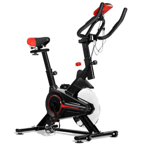 Gymax Indoor Cycling Bike Exercise Cycle Trainer Fitness Cardio