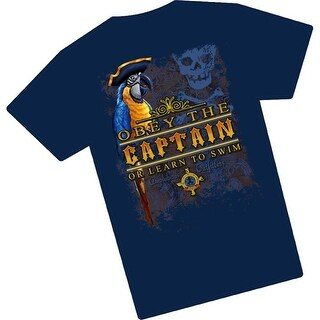 Amphibious Outfitters Obey the Captain Charcoal T-Shirt for Scuba Divers - Black/gold