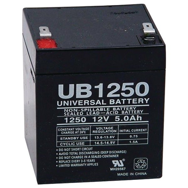 Upg 85983/D5741 Sealed Lead Acid Batteries (12V; 5Ah; .187 Tab Terminals; Ub1250)