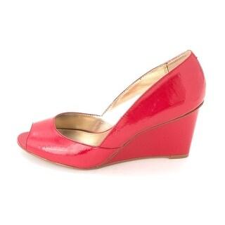 Alfani Kendol Peep Toe Synthetic Wedge Heel