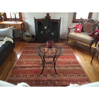 Carolina Weavers Celebration Collection Desert Trail Red Area Rug (5'3 x 7'6)