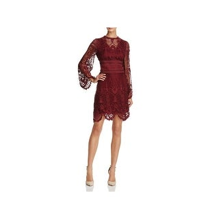 Laundry by Shelli Segal Womens Party Dress Bell Sleeve Lace