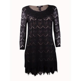 Style & Co. Women's Crochet-Neck Scalloped Lace Tunic
