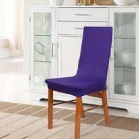 Unique Bargains 1 Pcs Dark Purple Spandex Stretch Dining Chair Cover Protector