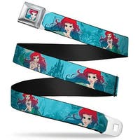 Ariel Face6 Turquoise Full Color Blues Ariel Poses Coral & Castle Blues Seatbelt Belt