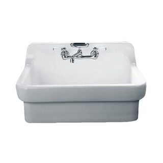 """American Standard 9062.008 Country 30"""" Single Basin Vitreous China Kitchen Sink for Drop In Installations"""