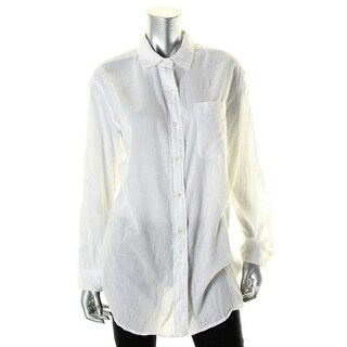 Denim & Supply Ralph Lauren Womens Button-Down Top Gauze Big Shirt