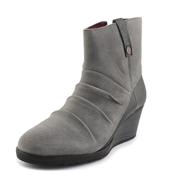 The North Face Bridgeton Wedge Zip Women Smoked Pearl Grey/Deep Garnet Red Boots