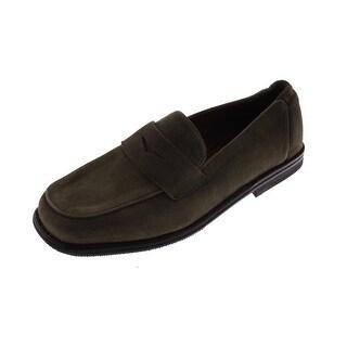 RZ Design Womens Tundra Suede Casual Smoking Loafers - 6 medium (b,m)