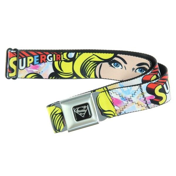 Supergirl Seatbelt Belt-Holds Pants Up