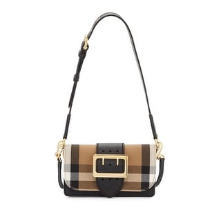 burberry wallet sale outlet 3ws1  Burberry Madison Small House Check & Leather Crossbody Bag