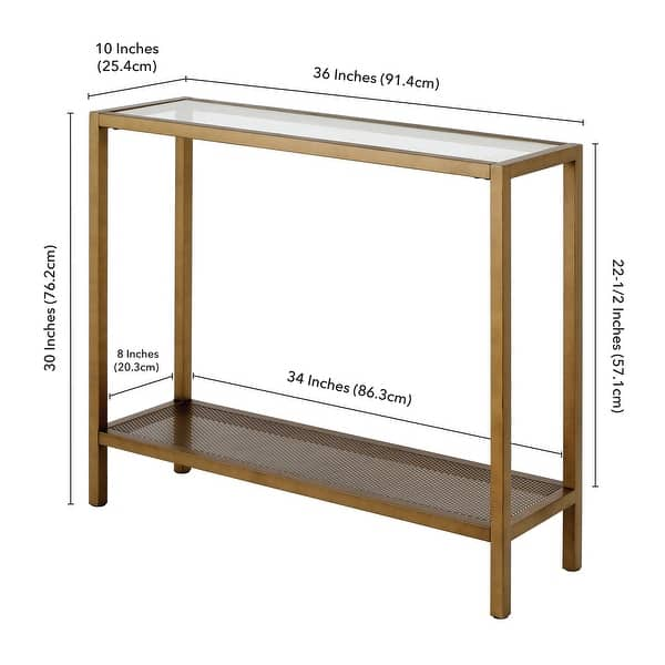 Rigan Metal and Glass Modern Console Table - On Sale - Overstock
