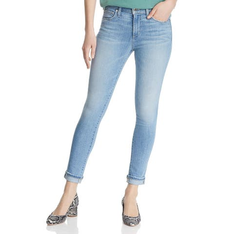Joe's Jeans Womens The Icon Skinny Crop Jeans Denim Mid-Rise
