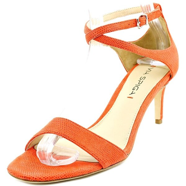 Via Spiga Leesa Women Open Toe Suede Orange Sandals