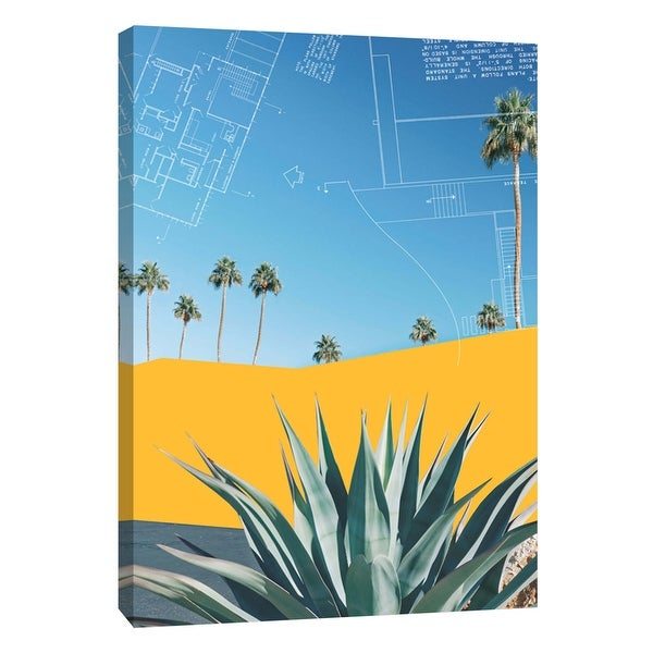 """PTM Images 9-105821 PTM Canvas Collection 10"""" x 8"""" - """"Palm Springs Color Block 3"""" Giclee Architecture Art Print on Canvas"""