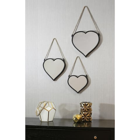 Arthouse Set of 3 Heart Mirrors